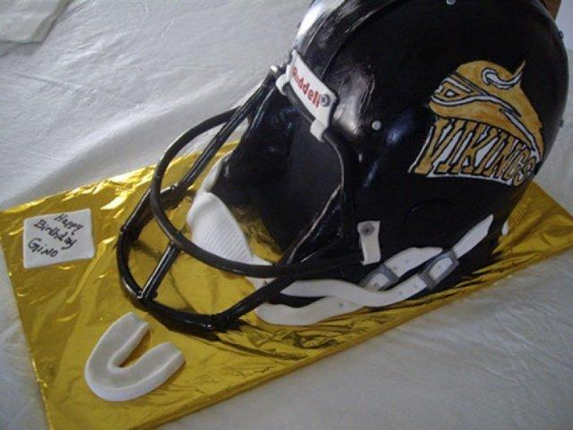 Football Helmet Cake