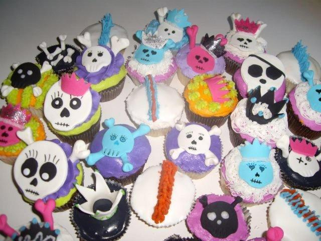 Goth cupcakes