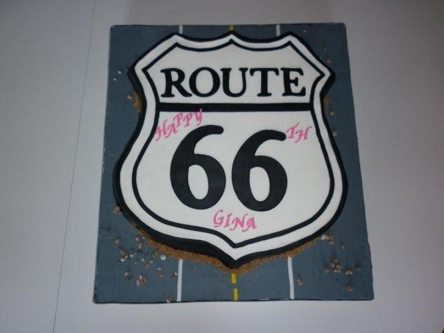 Route 66 Cake