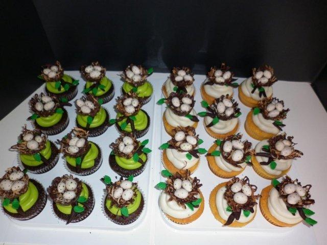 Bird Nest Cupcakes