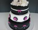 Pink & Black Wedding Cake