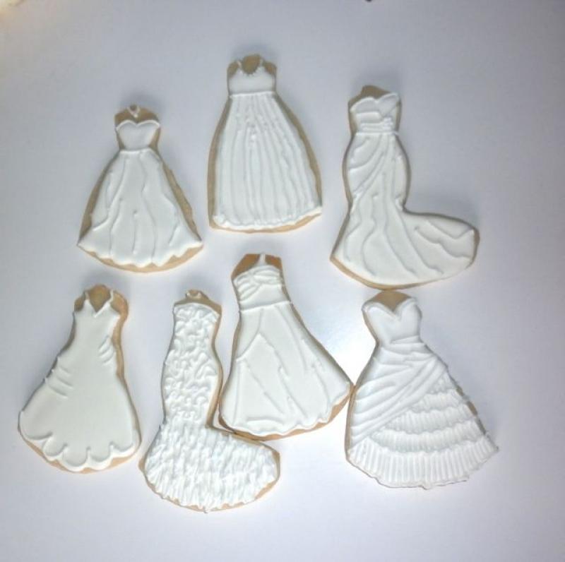 Wedding Gown Cookies - Sqqps.com